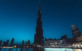 تحميل خلفيات برج خليفة دبي الإمارات العربية المتحدة مساء أعلى