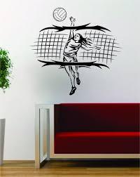 Volleyball Player And Net Sports Design Decal Sticker Wall Vinyl Art D Boop Decals