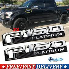 2015 2018 Ford F 150 Platinum Fender Emblem Chrome Passenger Driver Sides Oem