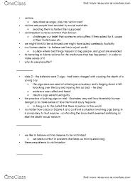 Class Notes for Addie Nelson - OneClass