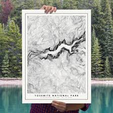 yosemite national park poster unique