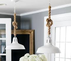 rope cord pendant lights diy pendant