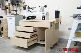 wood lathe stand with storage