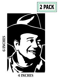 2 Pack John Wayne Stickers Vinyl Decal