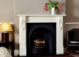 wooden fire surrounds white oak