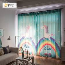 Cartoon Curtain Blackout Grommet Window Curtain For Living Room Dihinhome Home Textile