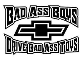 Bad Ass Boys Chevy V2 Decal Sticker