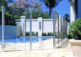Semi Frameless Glass Pool Fencing The Sophistication And Style Of A Frameless Glass Pool Fence But On A Budget The Posts Are Manuf Pool Gate Pool Pool Fence