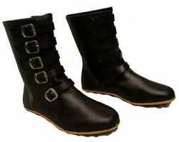 leather boots re enactment mens shoe