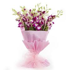 purple orchid bouquet gifts