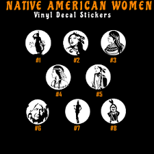 Native American Women Vinyl Decal Sticker Car Window Art Indian Apache Cherokee Ebay