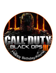 Edible Cake Cupcake Topper Decoration Image Call Of Duty Cod Black