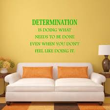 Vwaq Determination Wall Decal Is Doing What Needs To Be Done Quote Home And Office Wall Decor Walmart Com Walmart Com