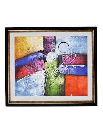 artist made oil on canvas painting wall