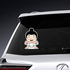 Little Sumo Boy Giving The Thumbs Up Sign Sticker