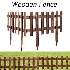 Womdee Wooden Picket Fence For Lawn Patio Festoon Garden Residential Yard Park Diy Crafts Decor Amazon In Home Kitchen
