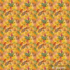 seamless pattern with skeleton leaves