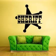 Wall Decals Vinyl Sticker Sheriff Sign Star Words Symbol Police Z1284 96802400186 Ebay