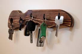 key holder for wall rustic wood key