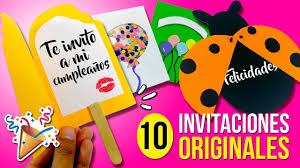 10 Invitaciones Faciles Y Originales Para Hacer En 1 Minuto