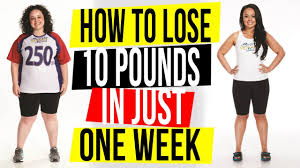 weight loss in one week a 7 step plan