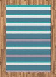 com ambesonne striped area rug