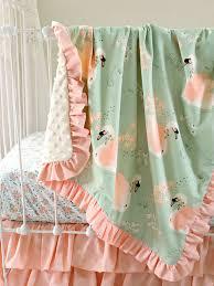 crib bedding set swan nursery bedding