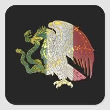 Mexican Flag Eagle Sticker Zazzle Com