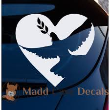 Dove Olive Branch Decal Christian Decals Dove And Olive Christian Car Decals