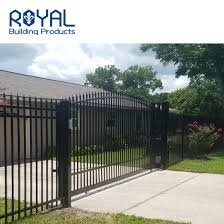 China Modern Courtyard Decorative Latest Automatic Entrance Pipe Driveway Garden Main Gate Designs For Home Fence Aluminum Gates China Aluminum Gates Main Gates Designs
