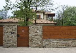 20 Fabulous Stone Fence Design Ideas For Front Yard Fence Design Stone Fence Wood Fence Design