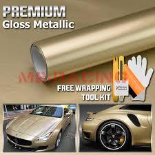 36 X60 Gloss Metallic Champagne Gold Glossy Vinyl Wrap Sticker Car Air Release Ebay