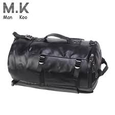 rolling mens leather duffle bag