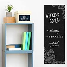 Amazon Com Wallies Vinyl Wall Decals Peel And Stick Frilly Chalkboard Wall Sticker 9 X 25 Home Kitchen