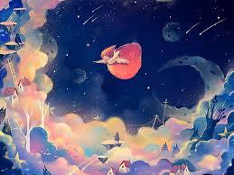 hd wallpaper dream fantasy moon sun