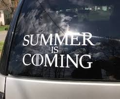 Summer Is Coming Game Of Thrones Inspired Car Decal Game Of Etsy
