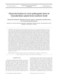 characterisation of a low pathogenic