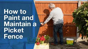 How To Paint And Maintain A Picket Fence Service Seeking