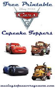 Cars 3 Cupcake Toppers Cumpleanos Cars Fiesta De Coche Cumpleanos