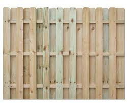 6 X 8 Pressure Treated Shadow Box Wood Fence Panel At Menards