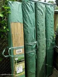 Pin By Rachel Patterson On Garden Chain Link Fence Fence Screening Bamboo Fence