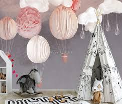 Kids Paper Lantern Hot Air Balloon Wallpaper Mural Wallmur