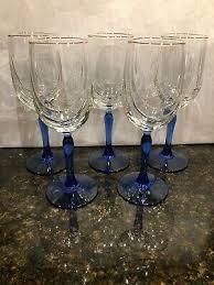 swag dd bowl gold rim wine glasses