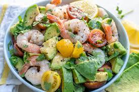 Lemony Shrimp + Avocado + Tomato Salad ...