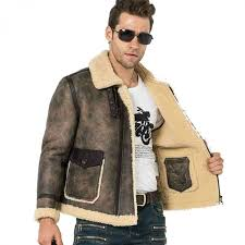 men fur coat flight jacket b 3 er