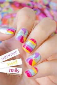 swirl nails cute nails sonailicious