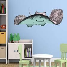 Bay Isle Home Stingray Manta Ray Kids Room Ocean Wall Decal Wayfair