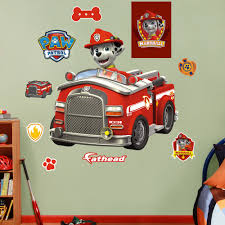 Fathead Nickelodeon Marshall S Fire Truck Peel And Stick Wall Decal Wayfair