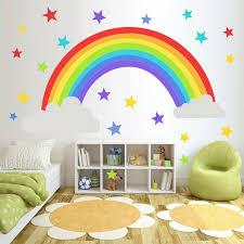 Rainbow Stars Wall Sticker Kids Bedroom Window Decals Vinyl Art Murals Remova Ma Ebay In 2020 Rainbow Wall Stickers Decal Wall Art Rainbow Wall Decal