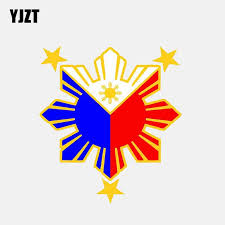 Philippines Filipino Flag Shield Decal Badge Car Motorcycle Decal Sticker V